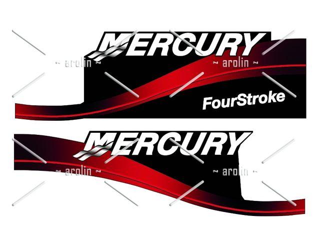 Logo, emblemat, naklejka na silnik zaburtowy Mercury, Yamaha, Suzuki