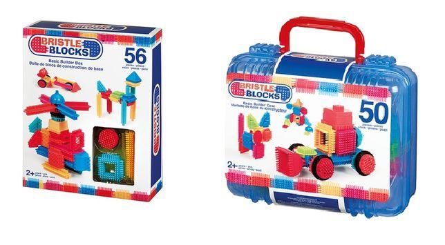 2 zestawy klocki jeżyki Bristle Blocks 50+56 jak NOWE