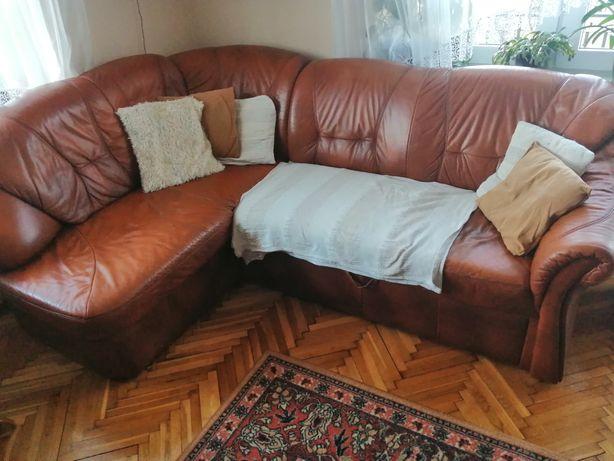 Skórzany narożnik +fotel