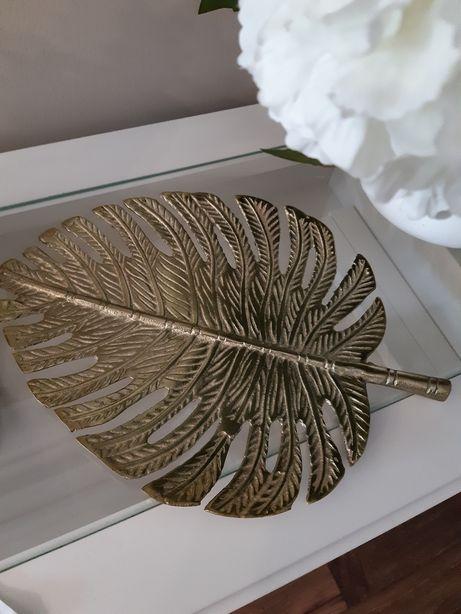 Patera złoty liść monstera