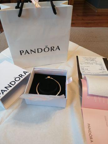 Bransoletka Pandora złota 18 cm CERTYFIKAT