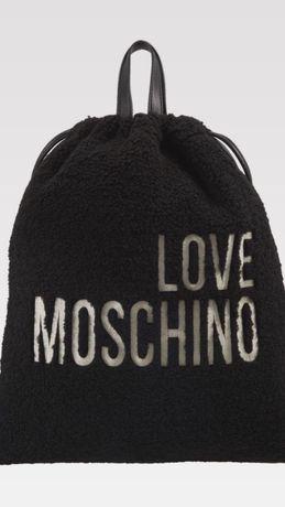 Nowy Oryginalny Worek Plecak LOVE MOSCHINO