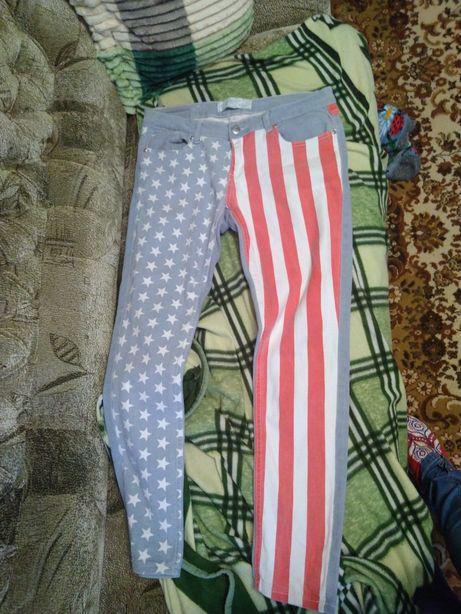 Джинсы американский флаг 48 размер скинни