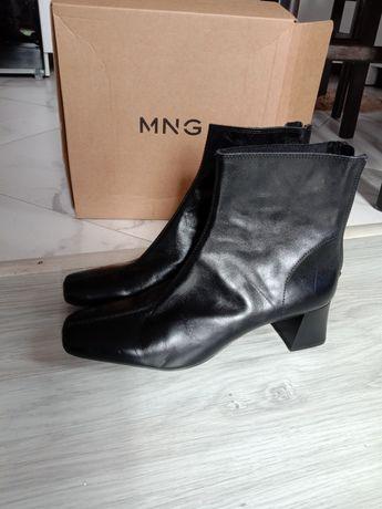 Mango, 100% кожа, ботильоны/ботинки
