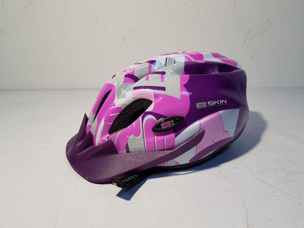 Kask rowerowy B-SKIN Tomcat S fioletowy dziewczynka 48-52