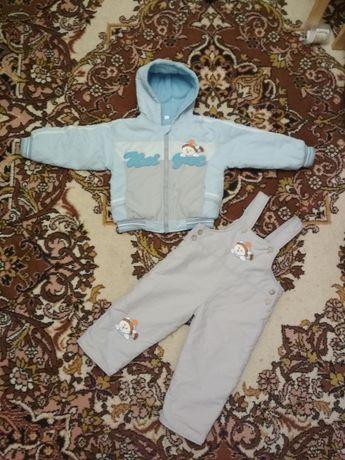 Продам весенний демисезонный костюм, куртка и комбинезон 1-2года