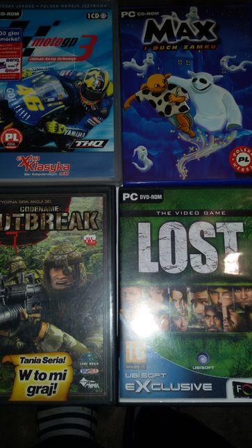 gry komputerowe PC DVD-ROM Lost CSI Outbreak moto gp3 max 6 sztuk