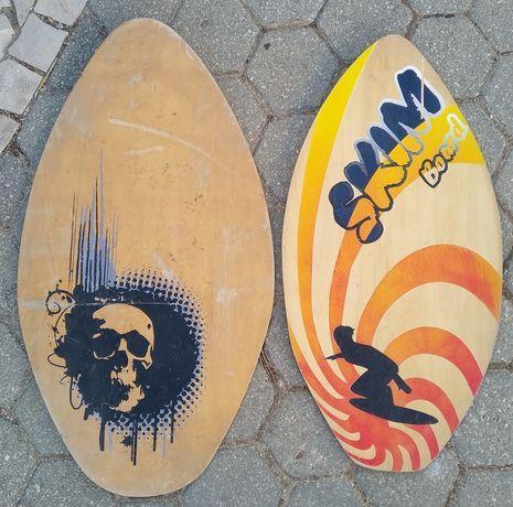 2 Pranchas de Skimboard em madeira