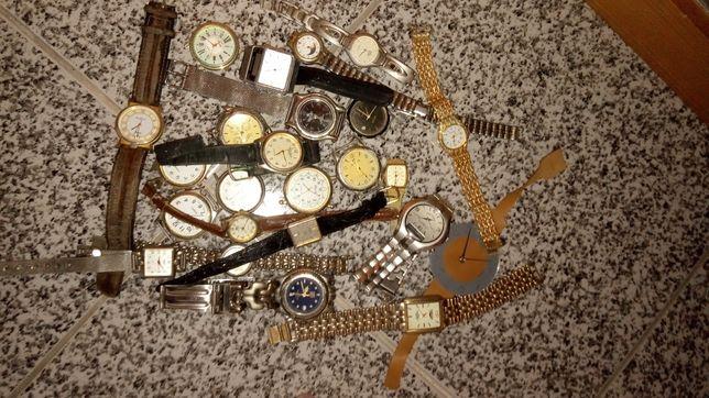 Lote relógios peças + isqueiros