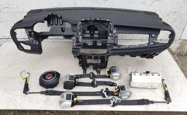 Fiat 500X подушка Airbag радиатор торпедо коробка КПП коллектор
