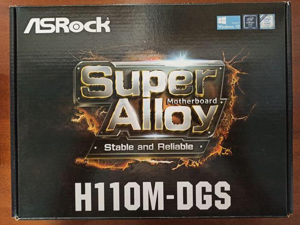 AsRock H110M-DGS(прошита под 7е поколение)