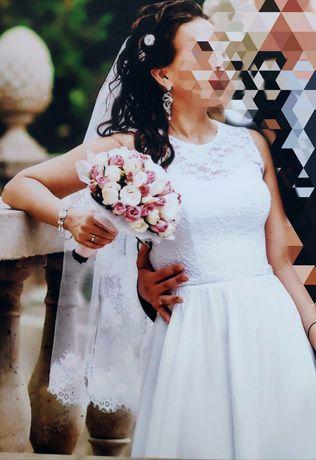 Свадебное платье, белое 48 р