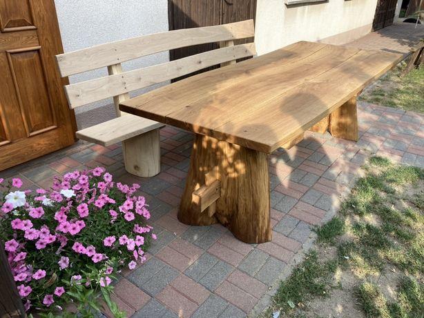 Stół dębowy z ławką, dąb