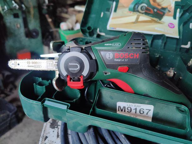 Bosch EASYCUT 12 NOWA:bateria 2,5AH, Ładowarka,Prowadnica 65mm