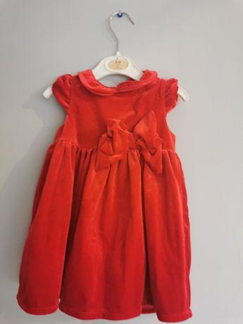 Sukienka czerwona rozmiar 68 h&m
