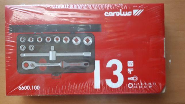 """Zestaw kluczy nasadowych Gedore Carolus 6600.100 3/8"""" 6-19mm 12 części"""