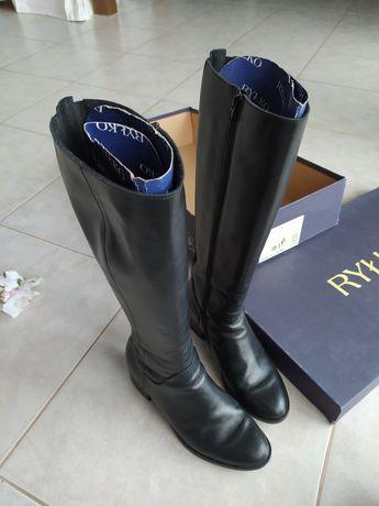 Buty kozaki skórzane Ryłko 37