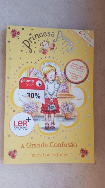 """Livro """"Princesa Poppy, A grande confusão"""", para jovens"""