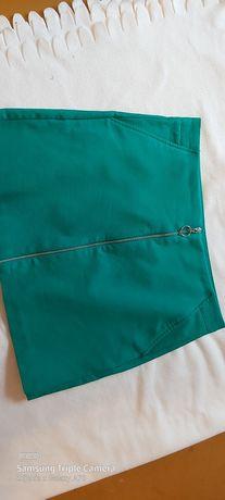Spódnica Zara zielona stan idealny