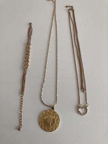 Zestaw biżuterii ze stali, 3 sztuki