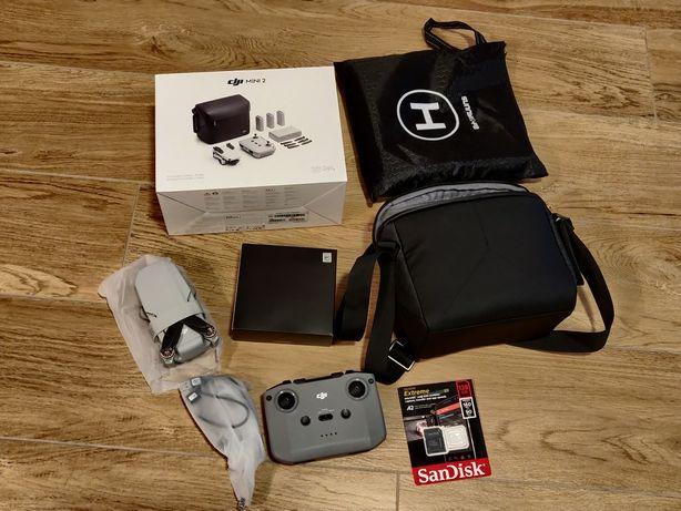 Jak NOWY Dron DJI Mini 2 + torba, karta 128GB, lądowisko - Warszawa