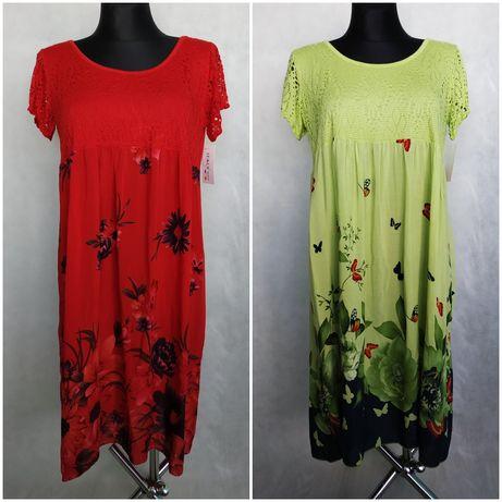 Sukienki Włoskie wiskoza L,XL,XXL