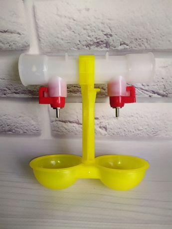 Двойной модуль ниппельного поения со штуцером для круглой трубы 25мм
