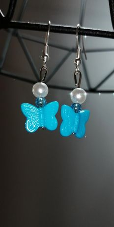kolczyki motylki