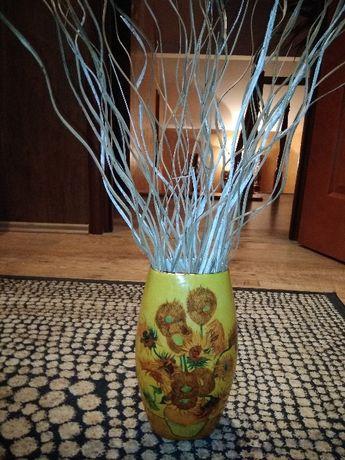 Piękny wazon w słoneczniki