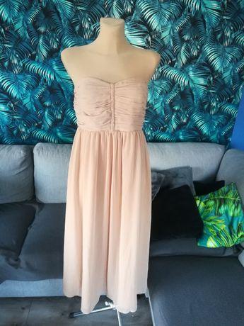 R. 42 Zoul sukienka damska beżowa