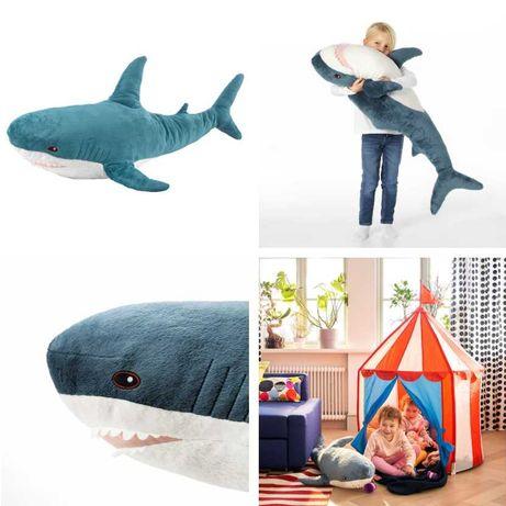 Плюшевая игрушка Акула 100 см IKEA - детская мягкая синяя