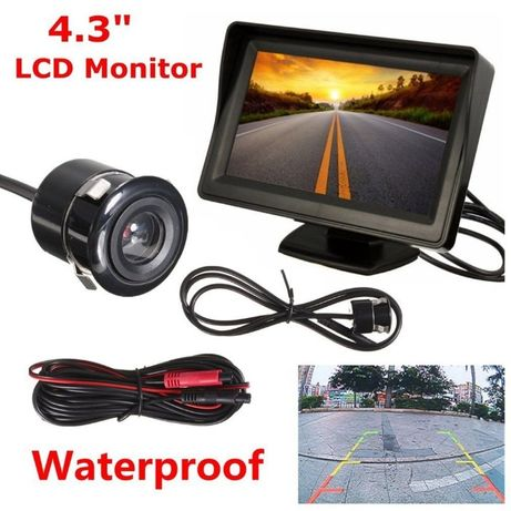 """KIT monitor de 4,3"""" ,de 1ch e 2ch com camera-Ajuda ao estacionamento"""