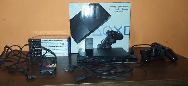 Konsola Sony PlayStation 2 (PS2) SCPH-90004 + 6 gier