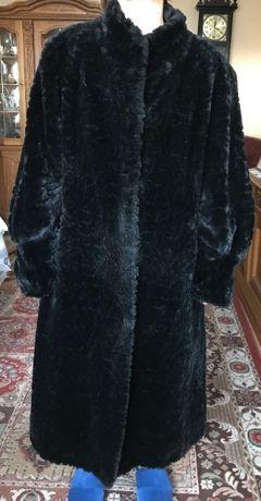 czarne damskie sztuczne futro