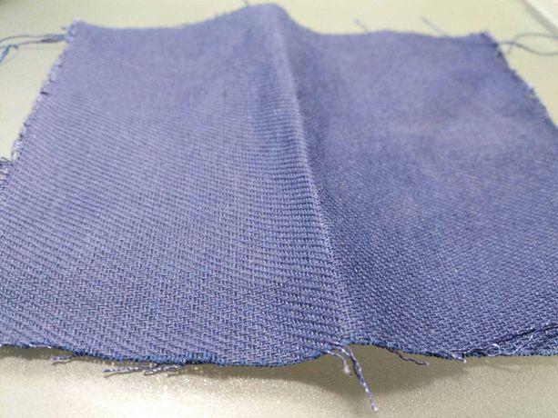 Ткань х/б диагональ синего цвета