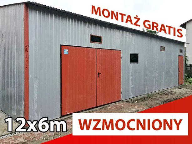 Garaż 12x6 garaże blaszane wiaty hale PRODUCENT montaż GRATIS