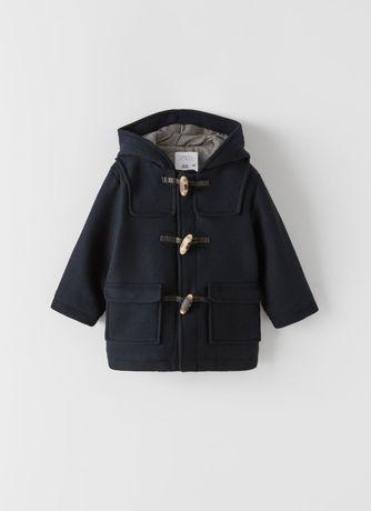 Budrysówka płaszcz z flauszu Zara nowy r. 98