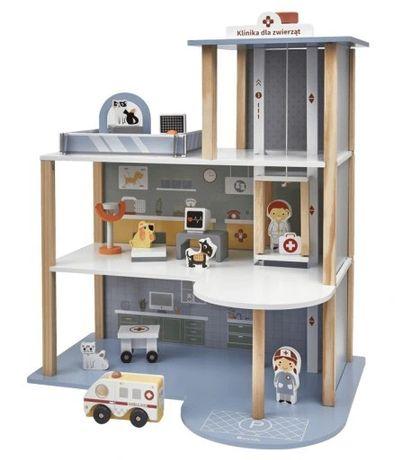 Lecznica dla zwierząt elefun domek dla lalek kuchnia