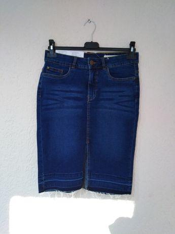 Jeansowa spódniczka nowa 36/S