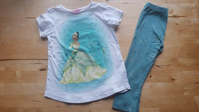 OVS Disney 104 Tunika bluzka Legginsy Capri komplet księżniczka