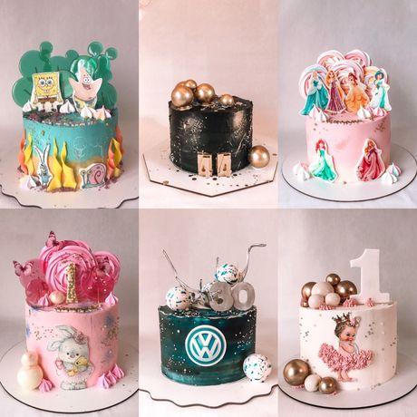 Свадебные и праздничные торт на заказ от 350грн/кг -10% акция