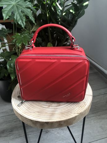 Czerwona torebka David Jones Paris