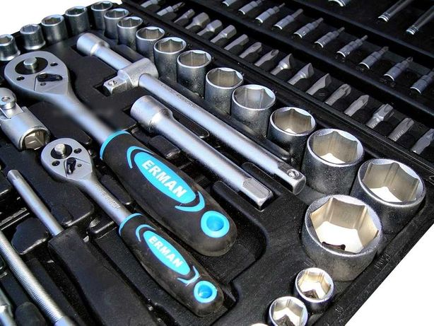 klucze nasadowe 94 elementy zestaw walizka