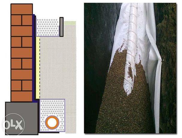 Osuszanie budynków - pionowa izolacja przeciwwilgociowa