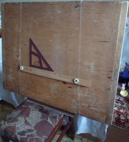Доска чертежная с рейсшиной А1.
