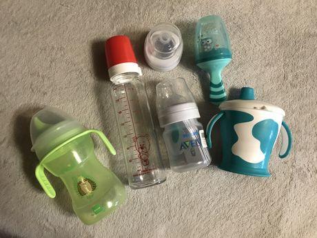 Новая Бутылочка Avent Anti-colic, canpol, соска,поильник, ниблер lindo