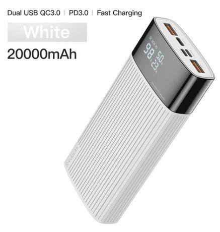 Power Bank KUULAA 20000 мАч QC 3.0 (white)