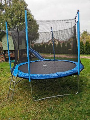 Trampolina ogrodowa 305 cm 10ft siatka wewnętrzna plus drabinka nowa