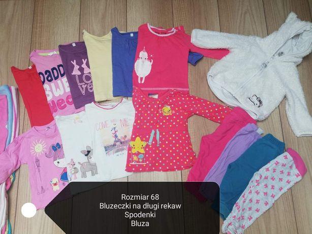 Ubranka dla dziewczynki r. 68 duży zestaw