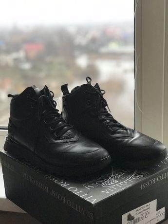 Ботинки кожаные теплые